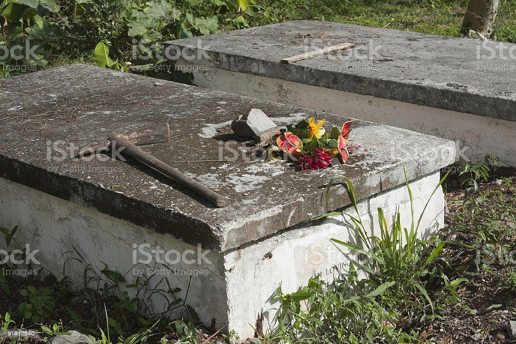 Caribbean Graves royalty-free stock photo