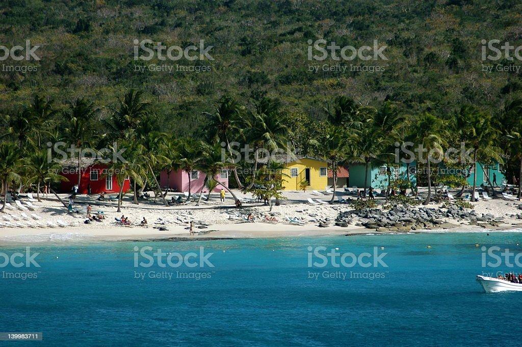 caribbean houses royalty-free stock photo