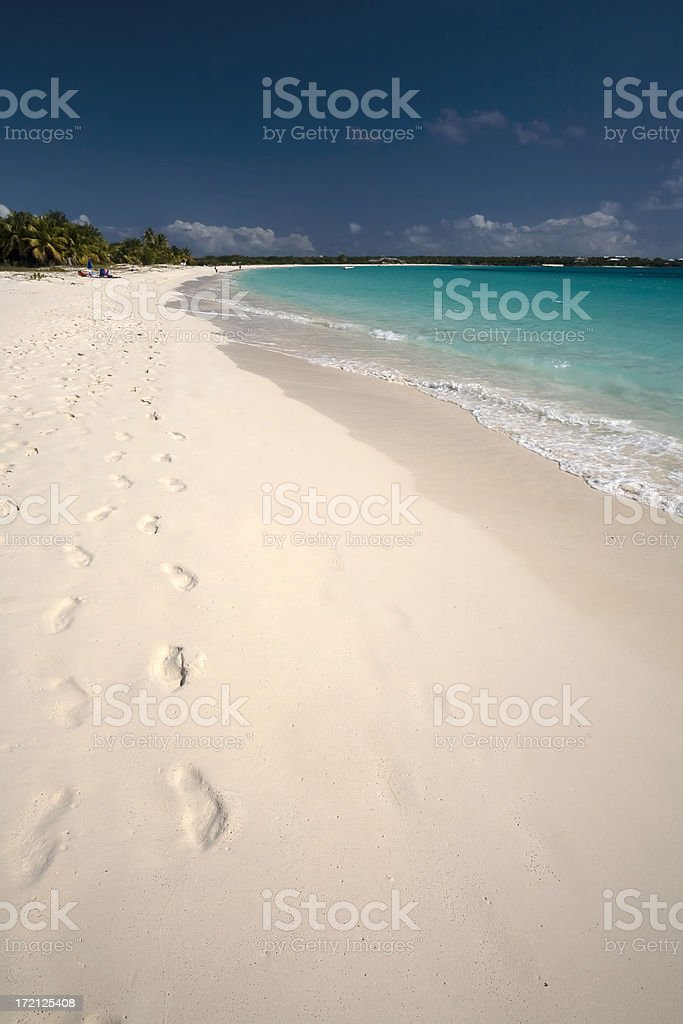 Caribbean Paradise. Anguilla royalty-free stock photo