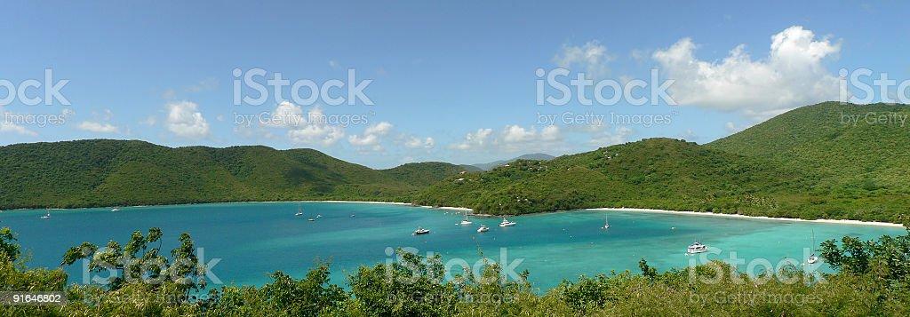Caribbean paradise panorama royalty-free stock photo