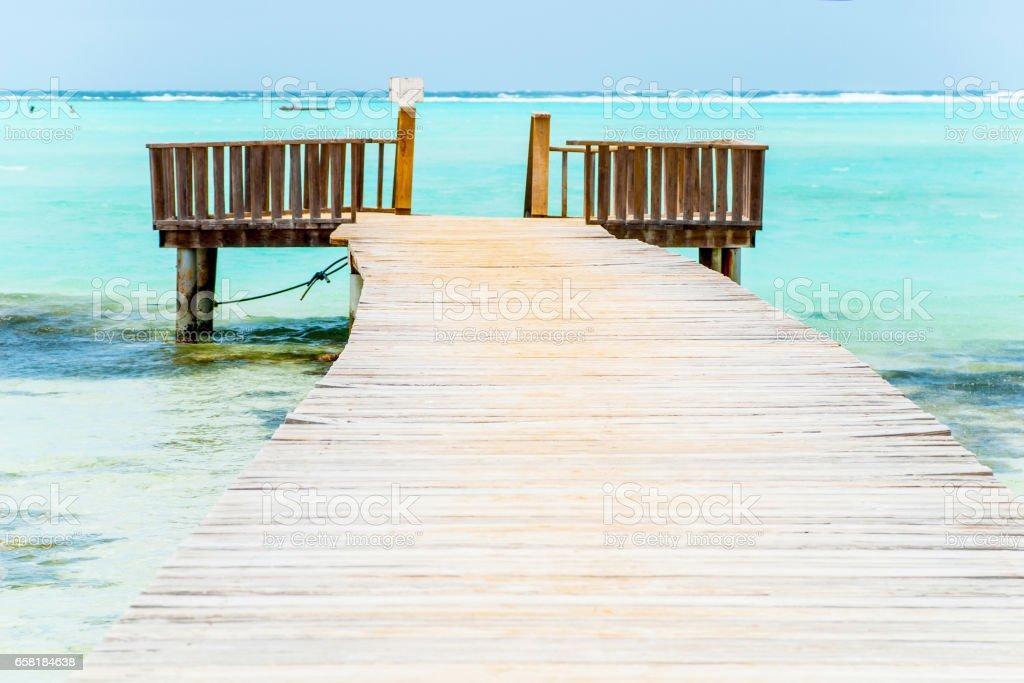 Caribbean paradise stock photo
