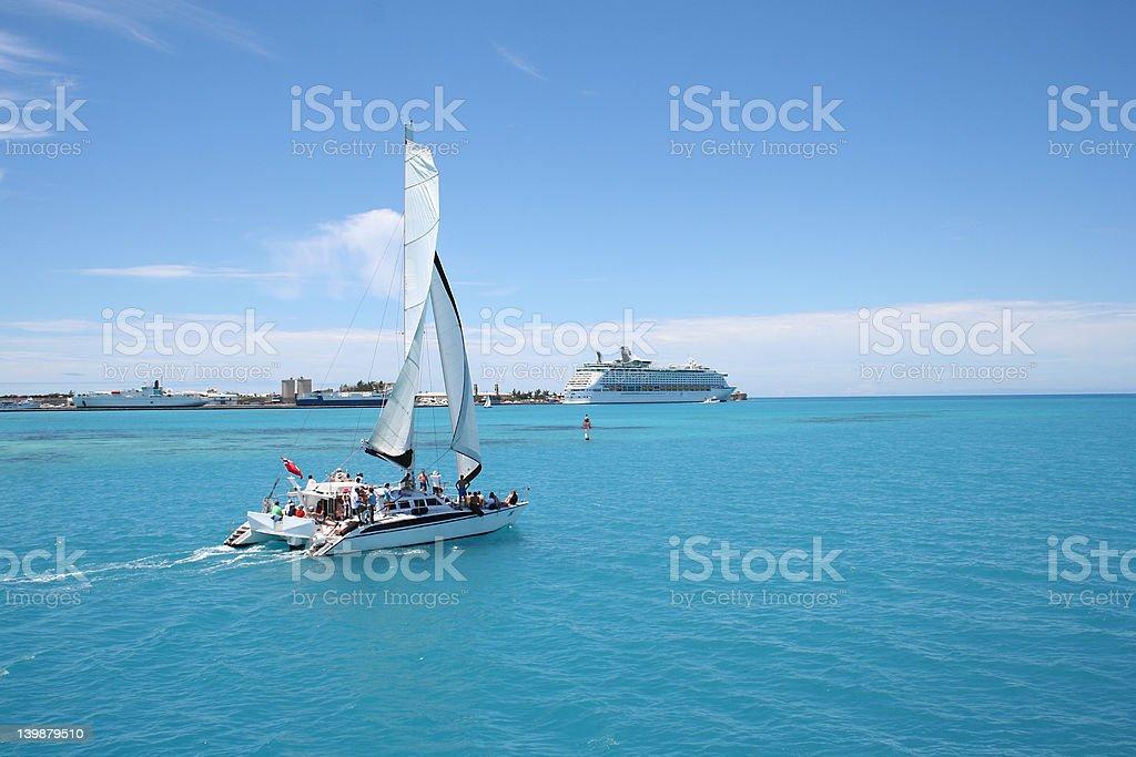 Caribbean Party Sail stock photo