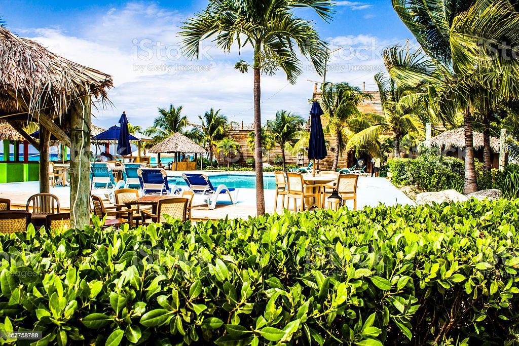 Caribbean Pool stock photo