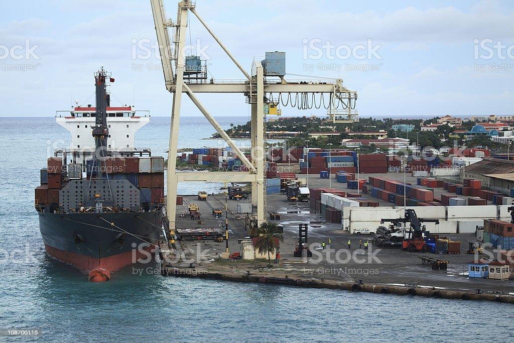 Caribbean Port royalty-free stock photo