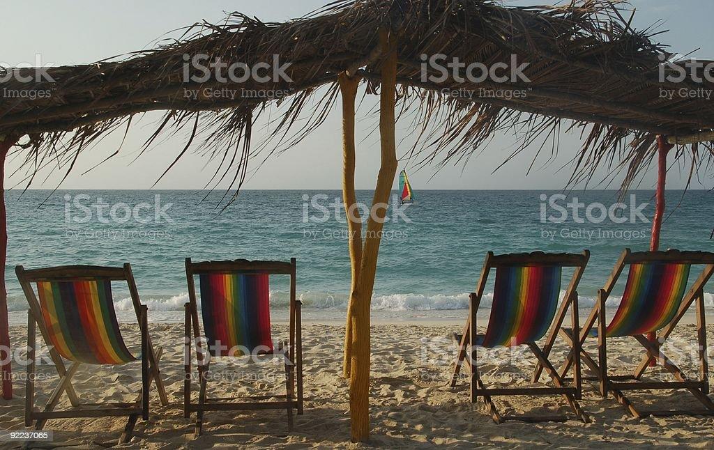 Karaiby Zrelaksuj się zbiór zdjęć royalty-free