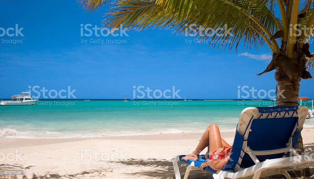 Caribbean relaxing royalty-free stock photo