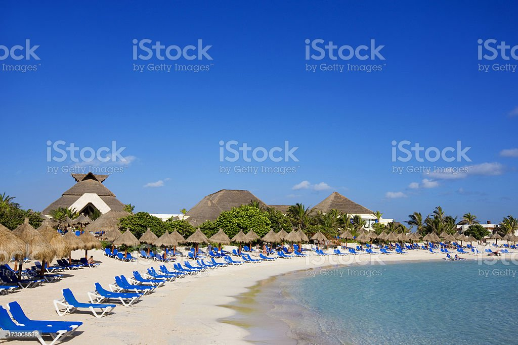 Caribbean resort stock photo