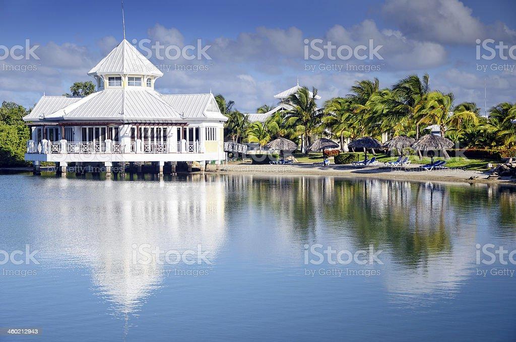 Caribbean Resort stock photo