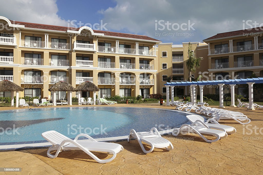 Caribbean Resort Poolside royalty-free stock photo