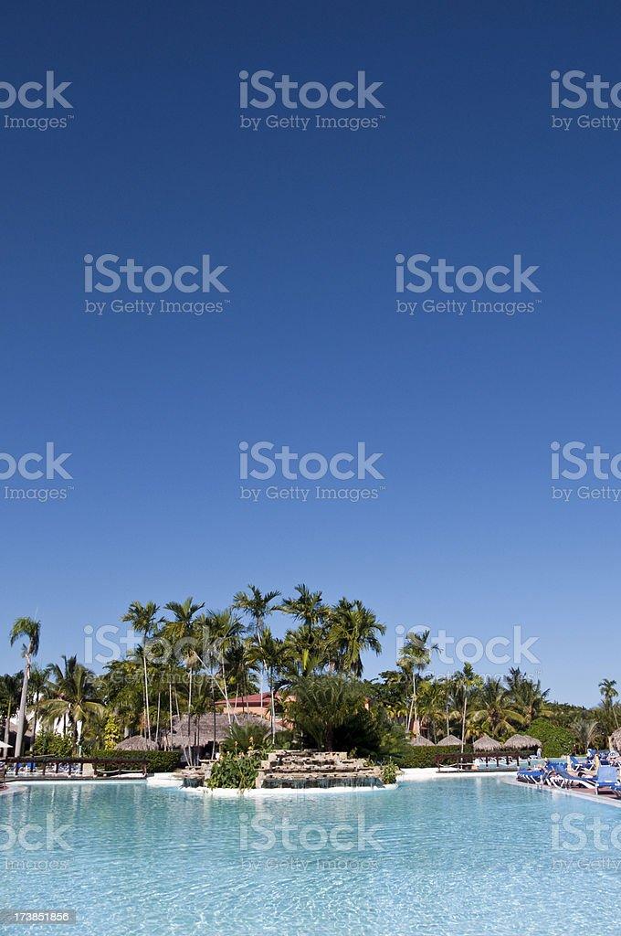Caribbean Resort Swimming Pool stock photo