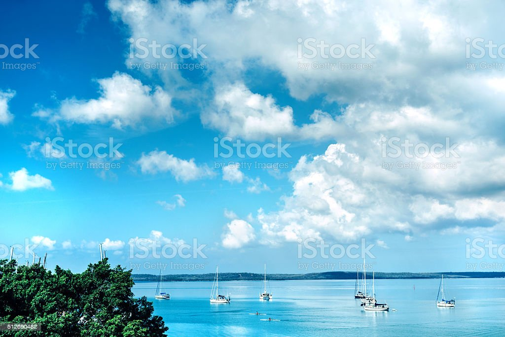 Caribbean sailing holiday stock photo