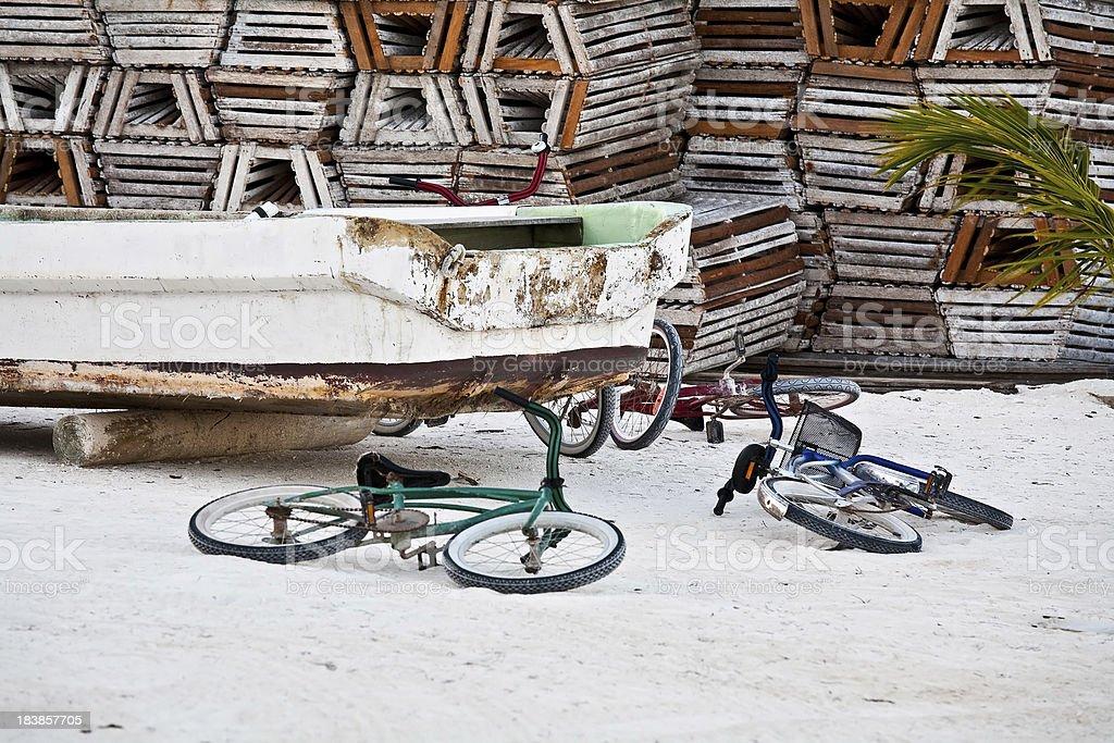 Caribbean scene royalty-free stock photo