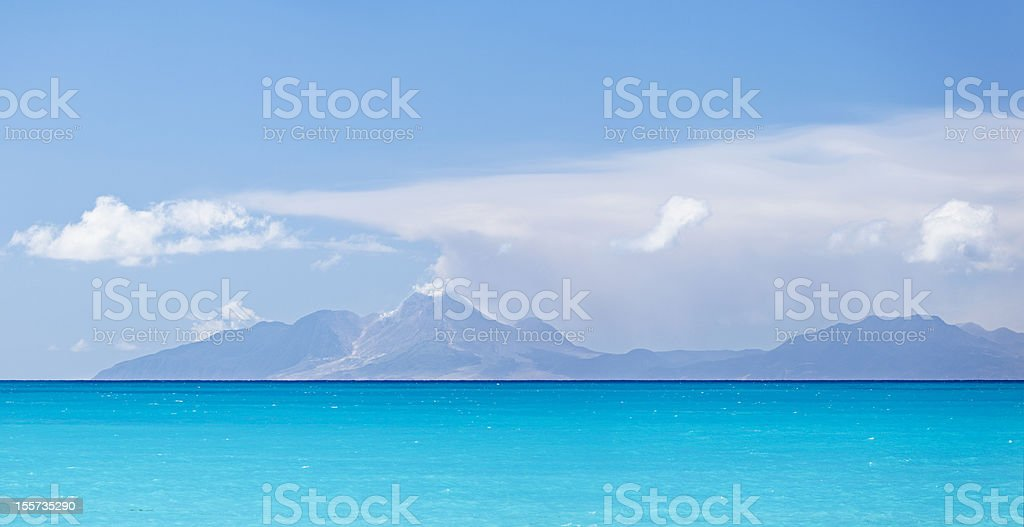 Caribbean Sea And Montserrat stock photo