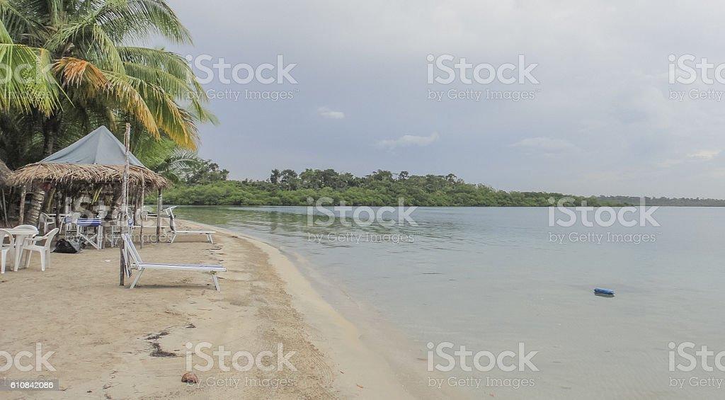 Caribbean sea. Bocas del Toro archipelago. Panama. Central America stock photo