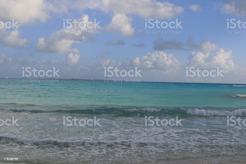 Caribbean sea, Cancun Mexico. royalty-free stock photo