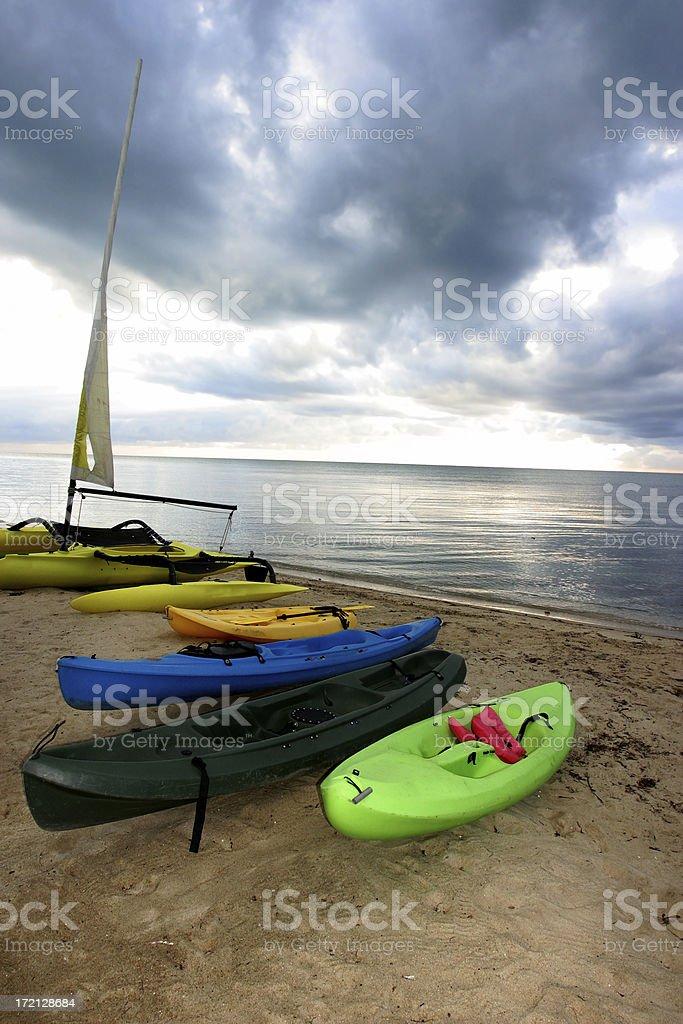 Caribbean Sea Kayaks stock photo