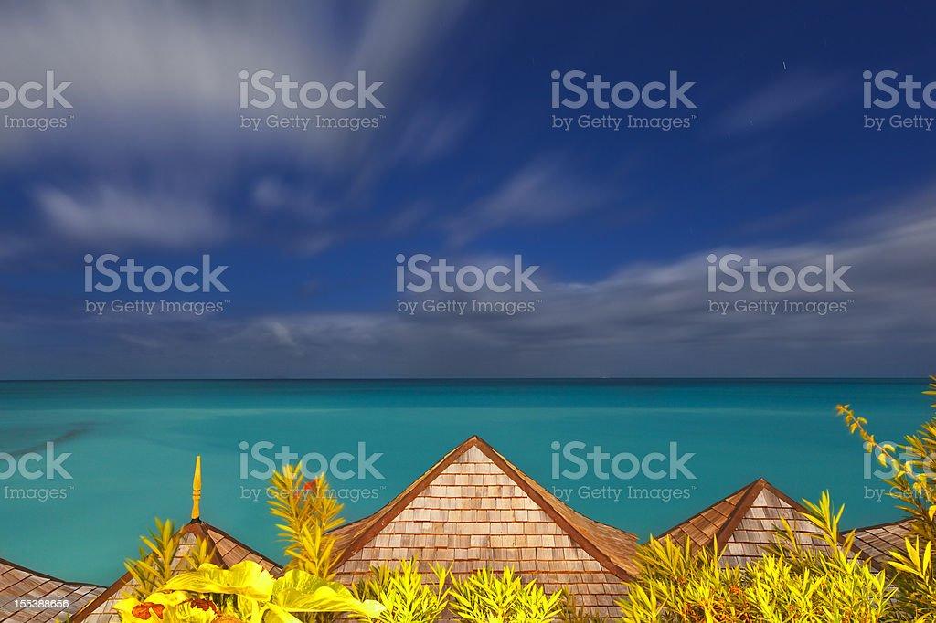 Caribbean Sea Long Exposure royalty-free stock photo