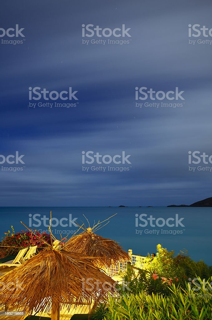 Caribbean Sea Long Exposure royalty-free stock photo