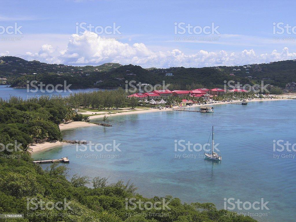 'Caribbean Sea, Reduit beach, Rodney Bay, St Lucia' stock photo