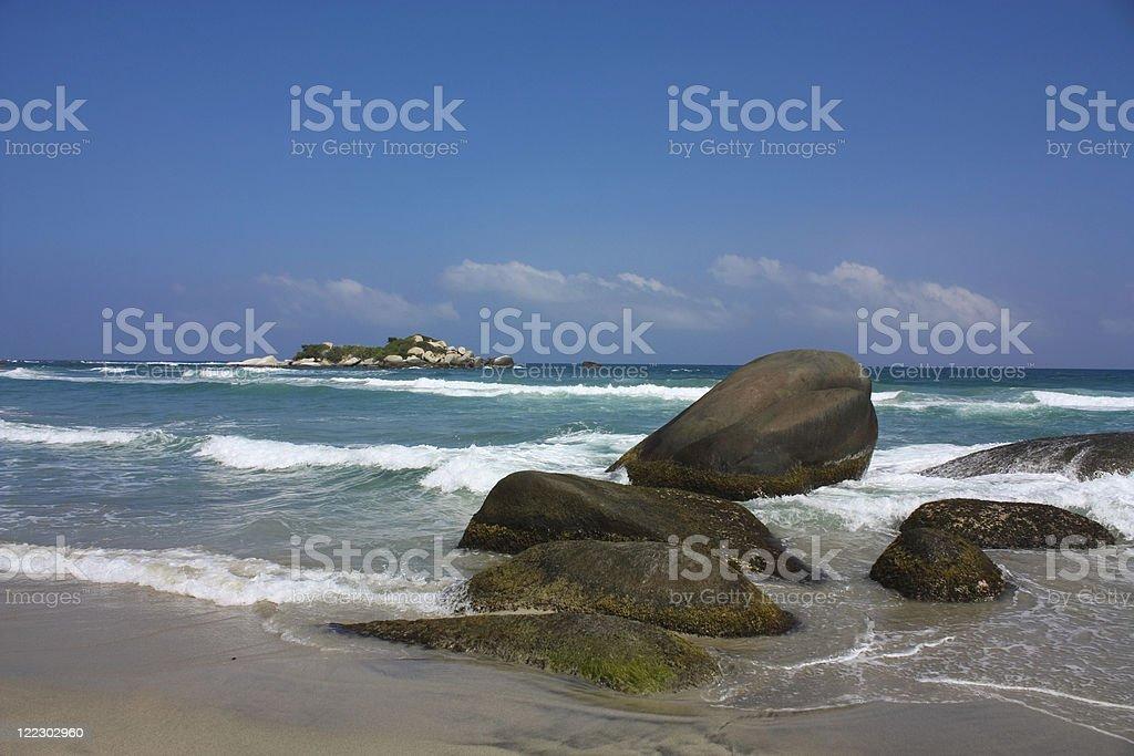 Caribbean sea. Tayrona National Park. Colombia royalty-free stock photo