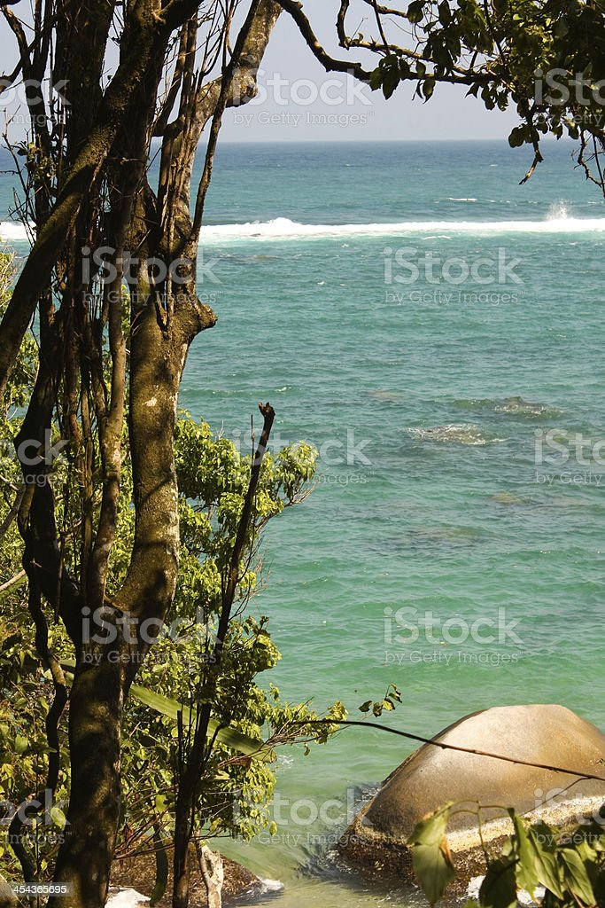 Caribbean sea. Tayrona National Park. Colombia royalty-free stock photo