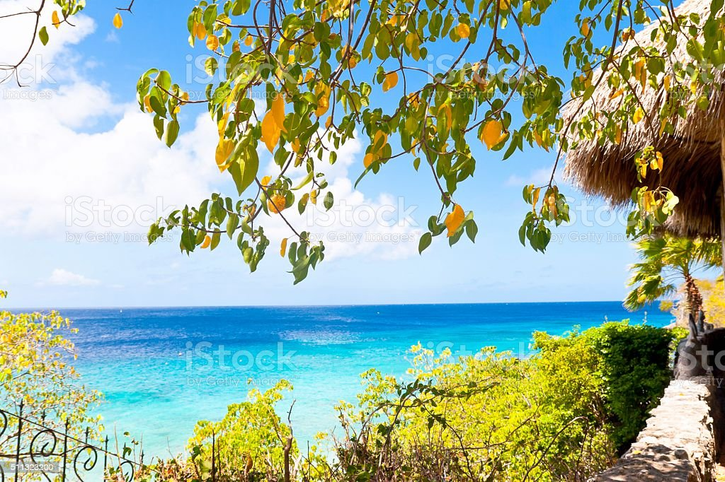 Caribbean Sea View stock photo