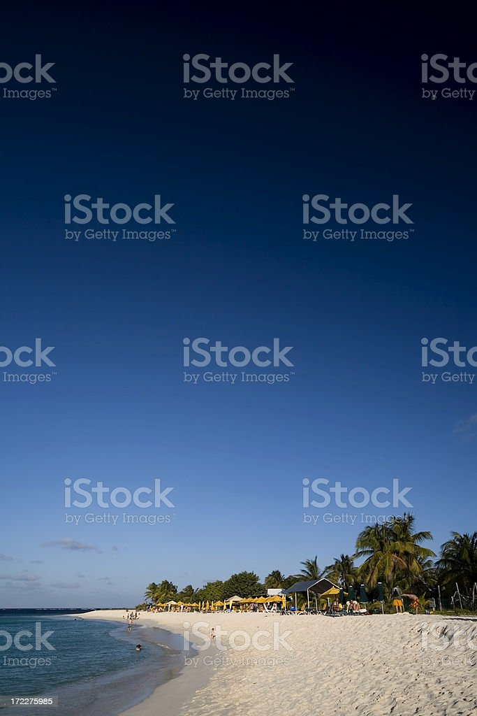 Caribbean Seaside. Anguila royalty-free stock photo