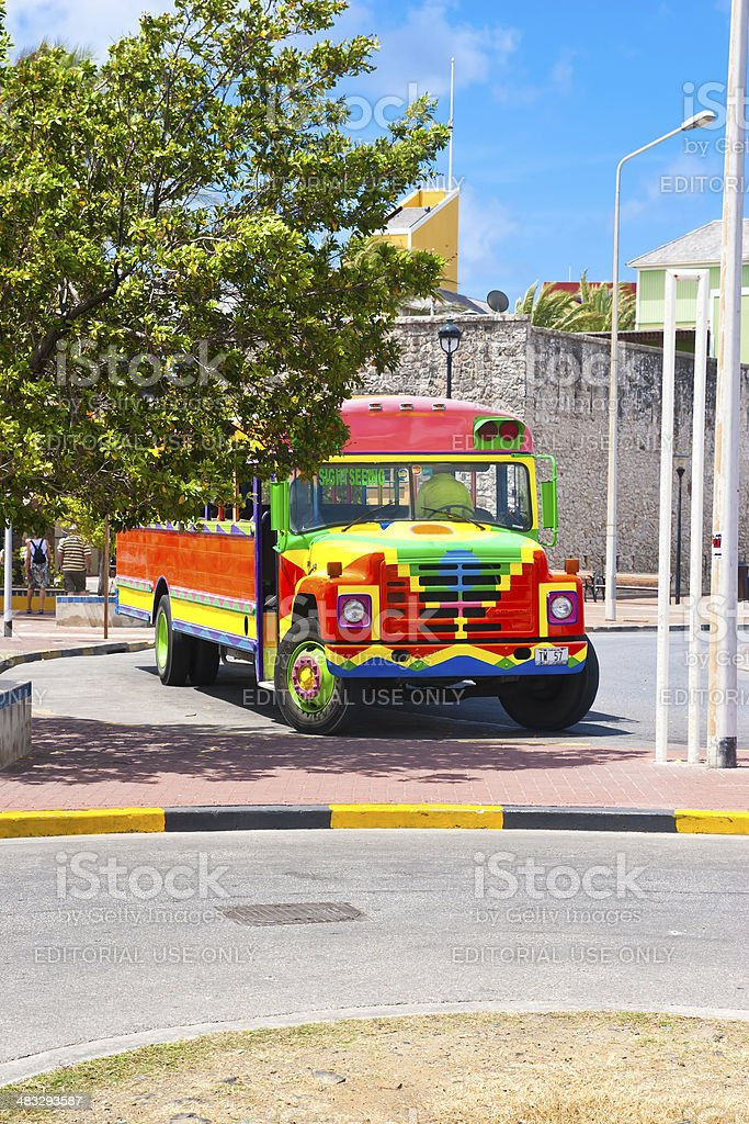 Caribbean Sight Seeing Bus stock photo