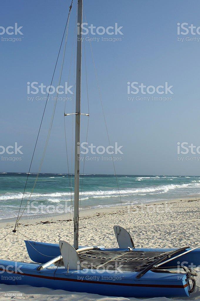 caribbean solitude stock photo