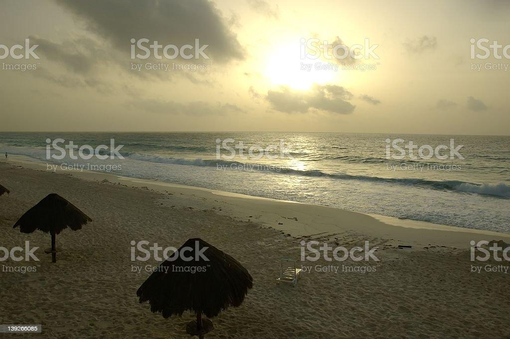 Caribbean Sunrise stock photo