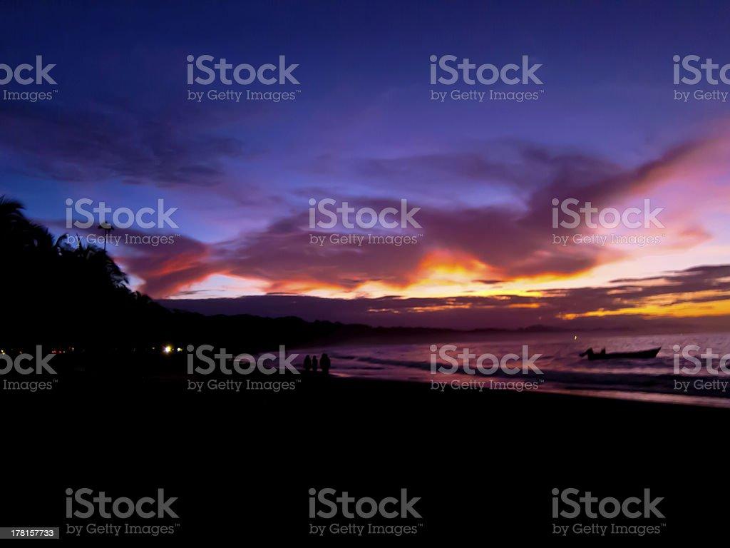 Caribbean Sunset I royalty-free stock photo