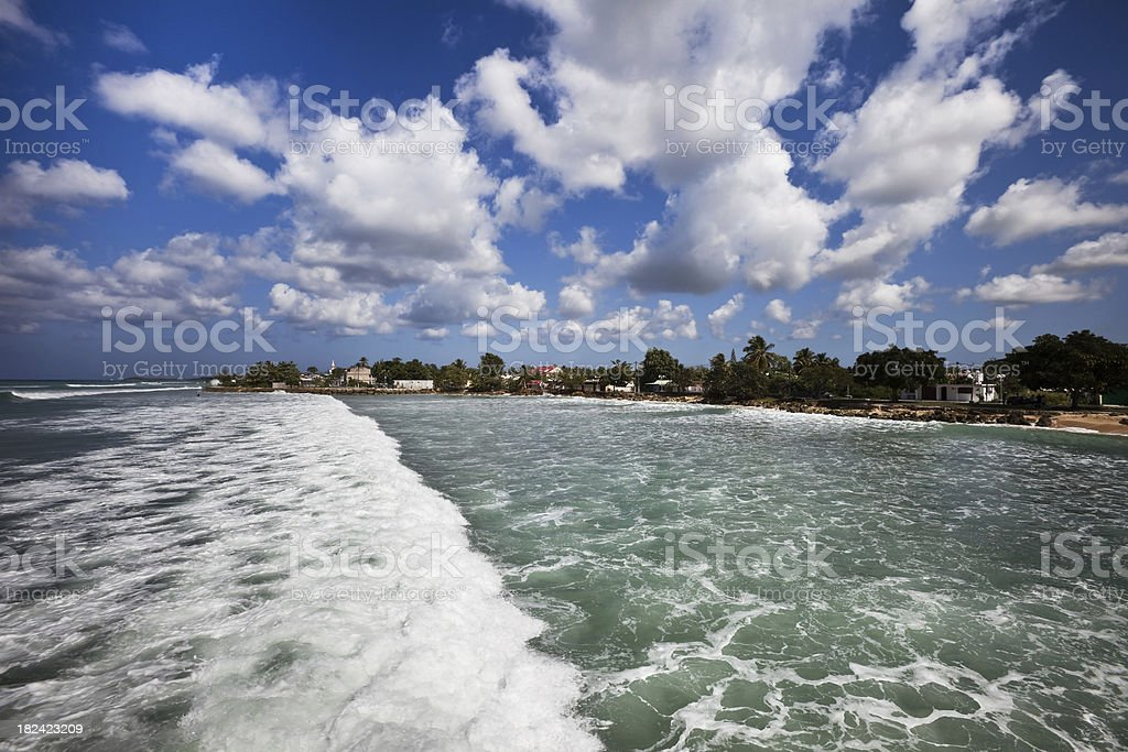 Caribbean Surf stock photo