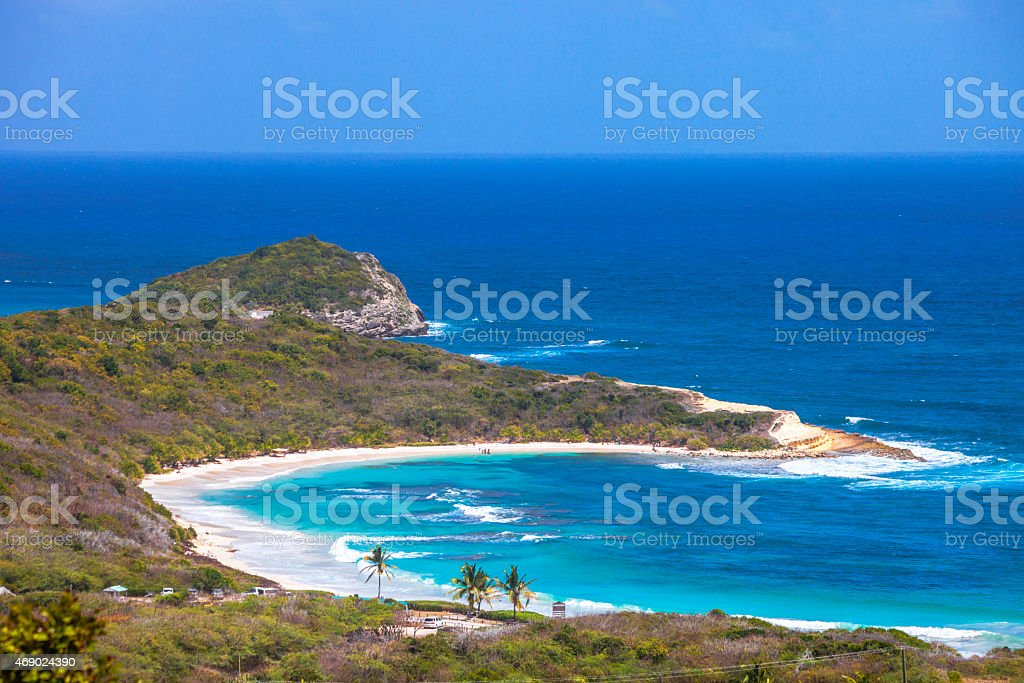 Caribbean view. Half Moon Bay, Antigua & Barbuda. stock photo