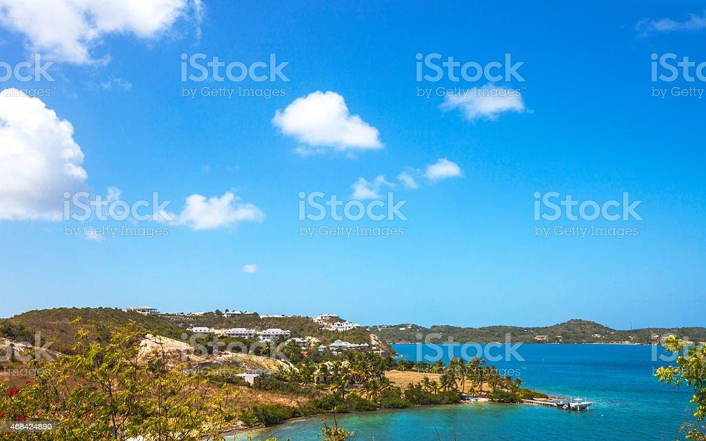 Caribbean view. Nonsuch Bay, Antigua & Barbuda. stock photo