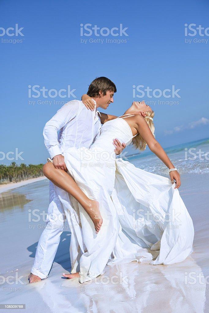 Caribbean wedding travel royalty-free stock photo