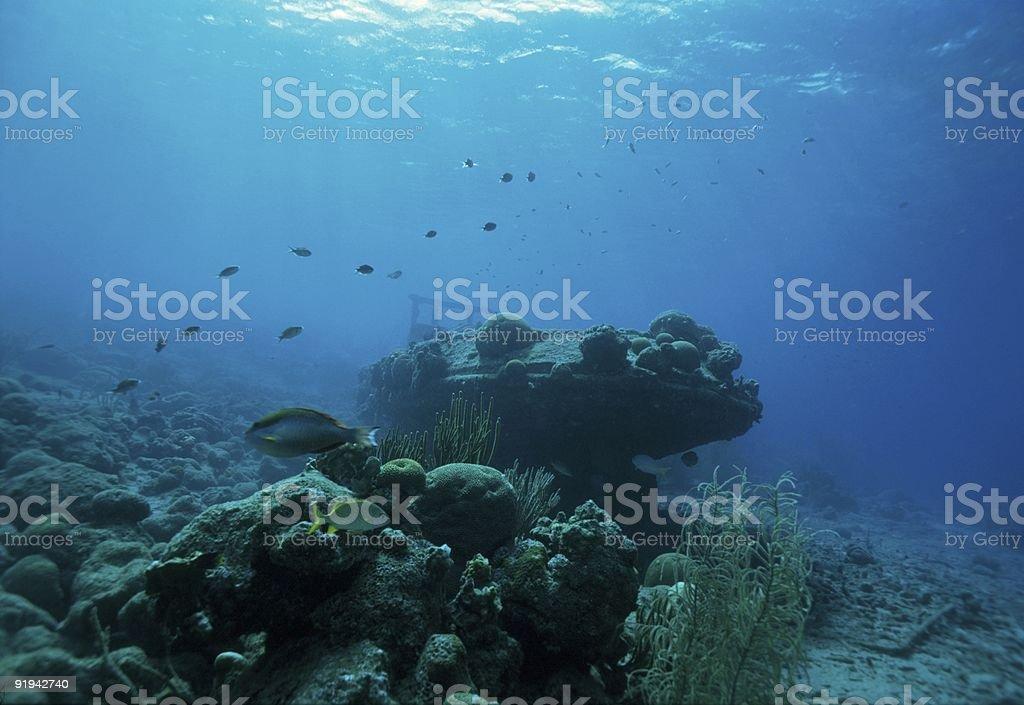 Caribbean wreck royalty-free stock photo