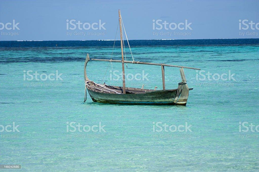 Caribbian Boot Scene royalty-free stock photo