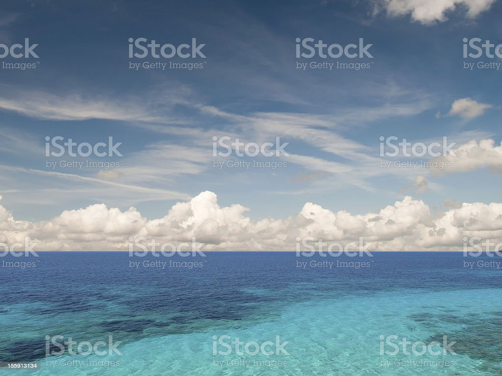 Caribean sea stock photo
