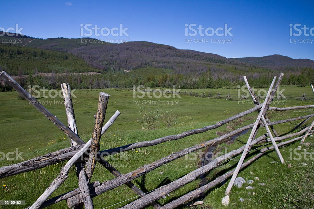 Cariboo - Chilcotin country landscapes, BC, Canada stock photo