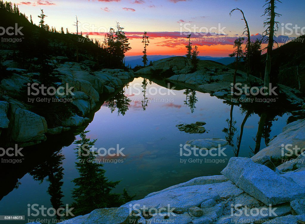 Caribou Lake Reflection stock photo