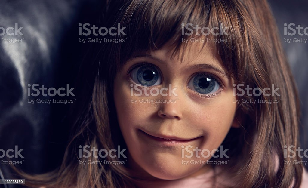 caricature of little girl stock photo