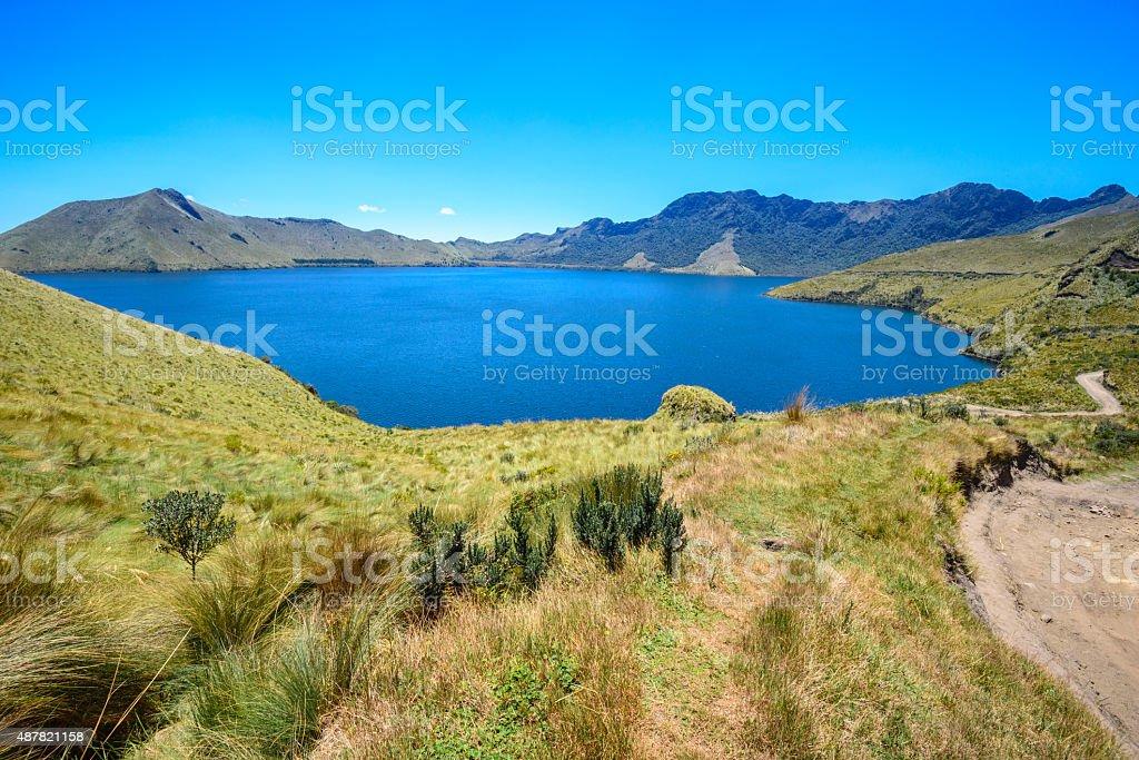 Caricocha in Mojanda lakes, Ecuador stock photo
