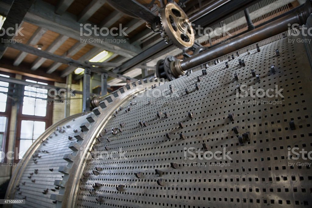 Carillon mechanics of Belfry in Bruges royalty-free stock photo