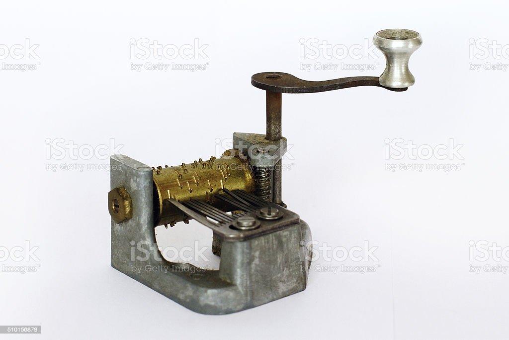 Carillon - Mini Music Player on white background stock photo