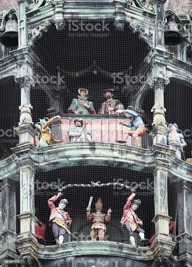 Carillon of the Old Town Hall at Marienpltz, Munich, Germany stock photo