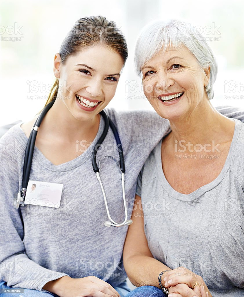Caring about every patient's wellbeing stock photo