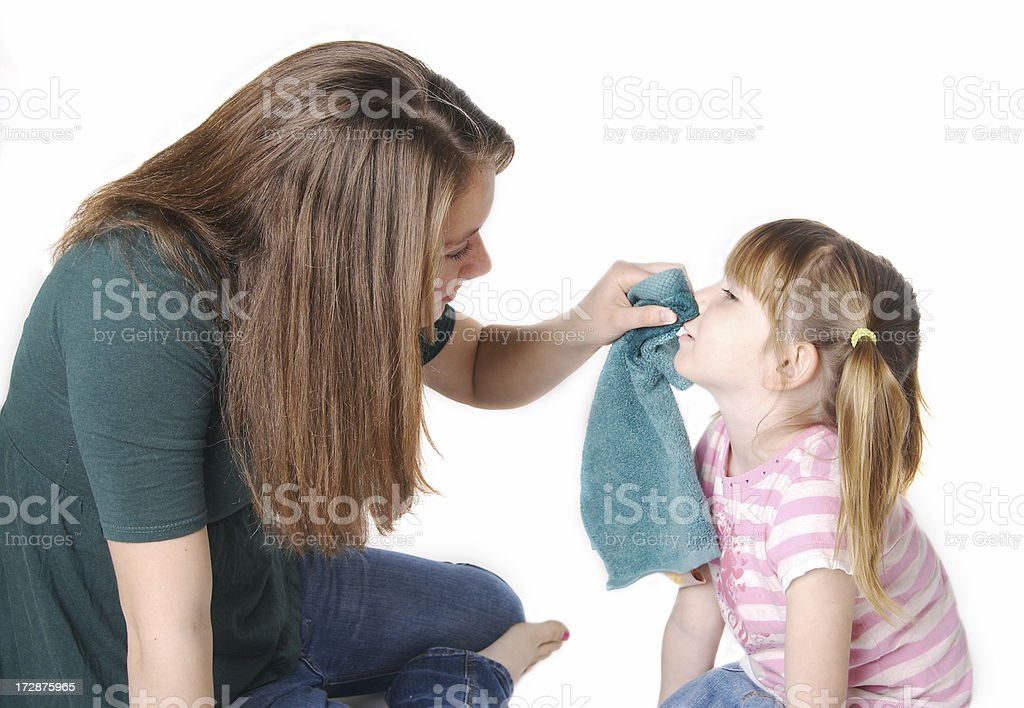 Caring Babysitter Series royalty-free stock photo