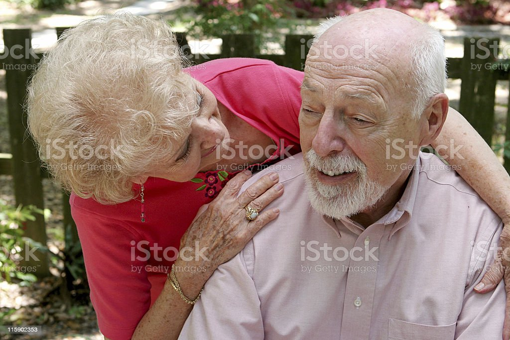 Caring For Husband stock photo