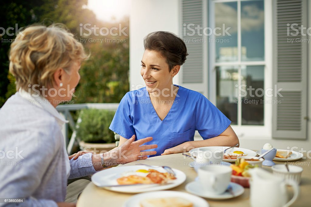 Caring for older patients offers many rewards and benefits! stock photo