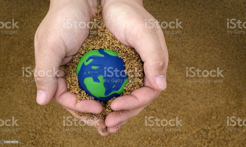 caring for planet earth royalty-free stock photo